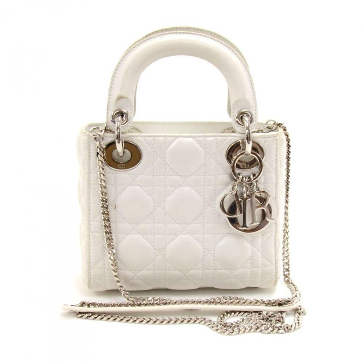 0ce203017669 Lyst dior pre owned white leather handbags in white jpg 1210x1210 Dior  leather handbag white