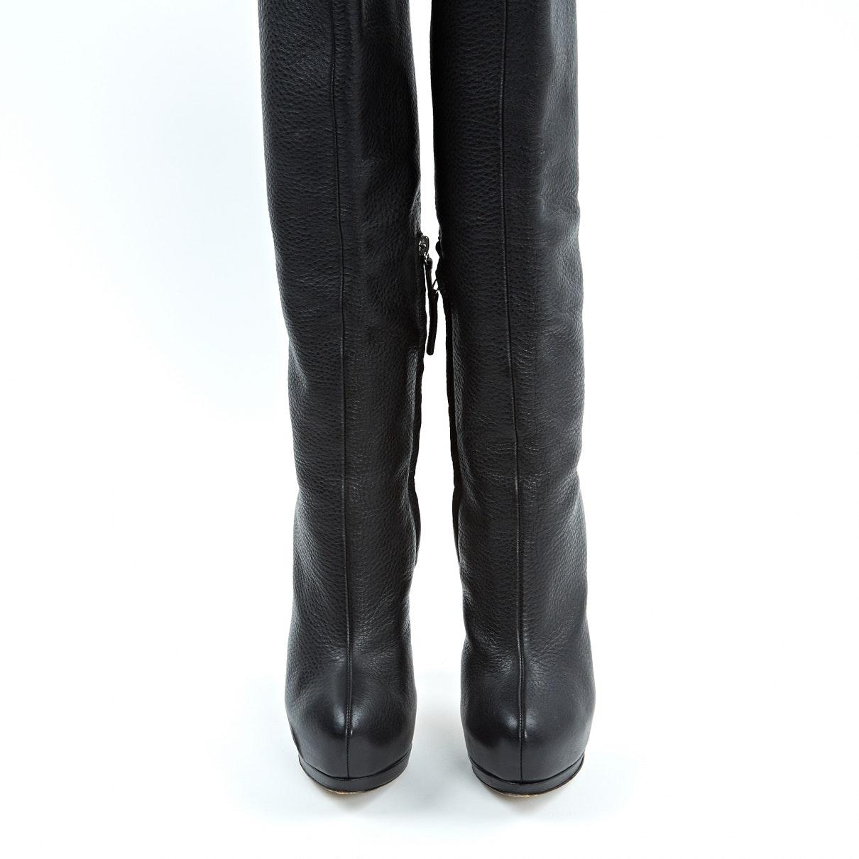 Botas de Cuero Giuseppe Zanotti de color Negro