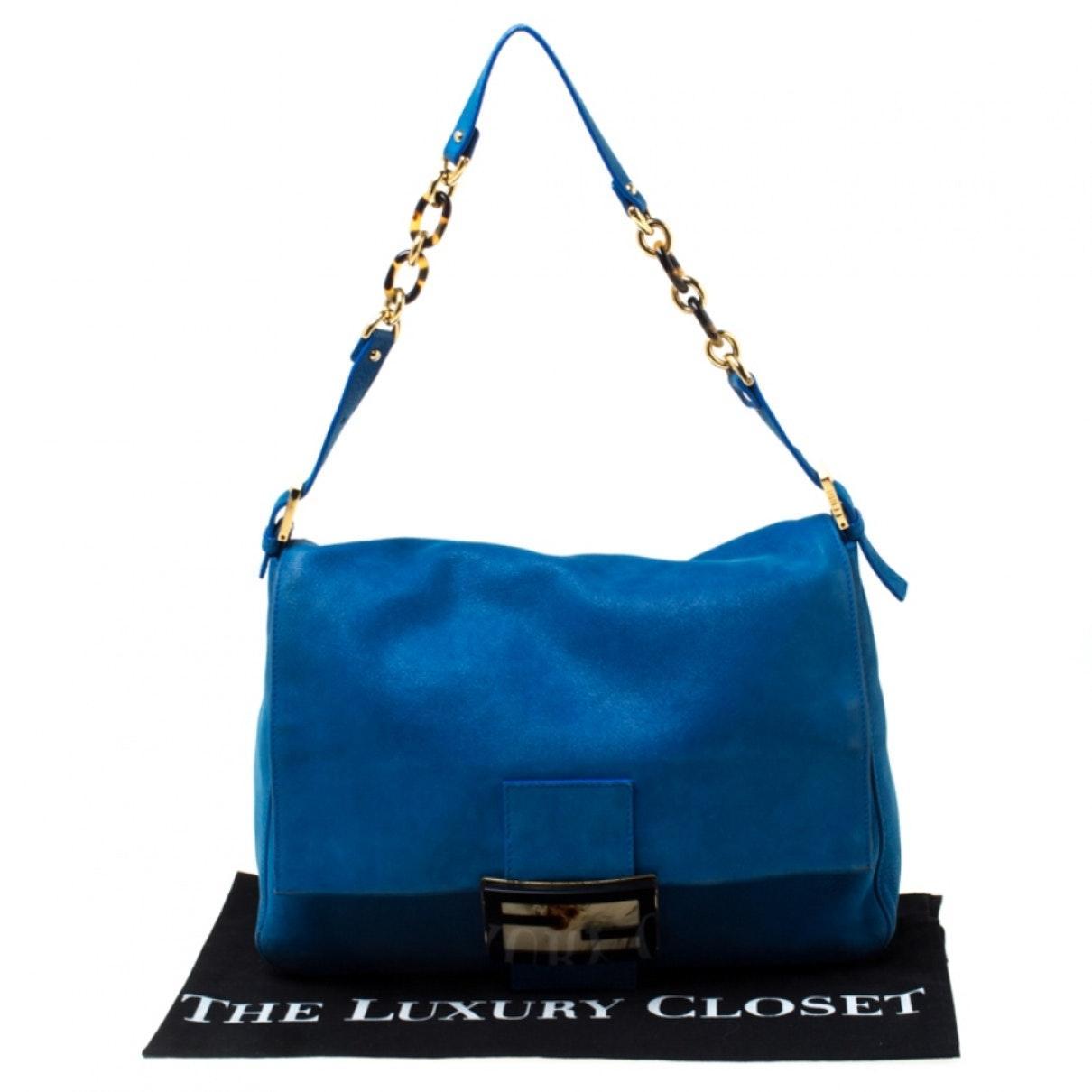 Fendi Leder Leder Handtaschen in Blau B2rw1