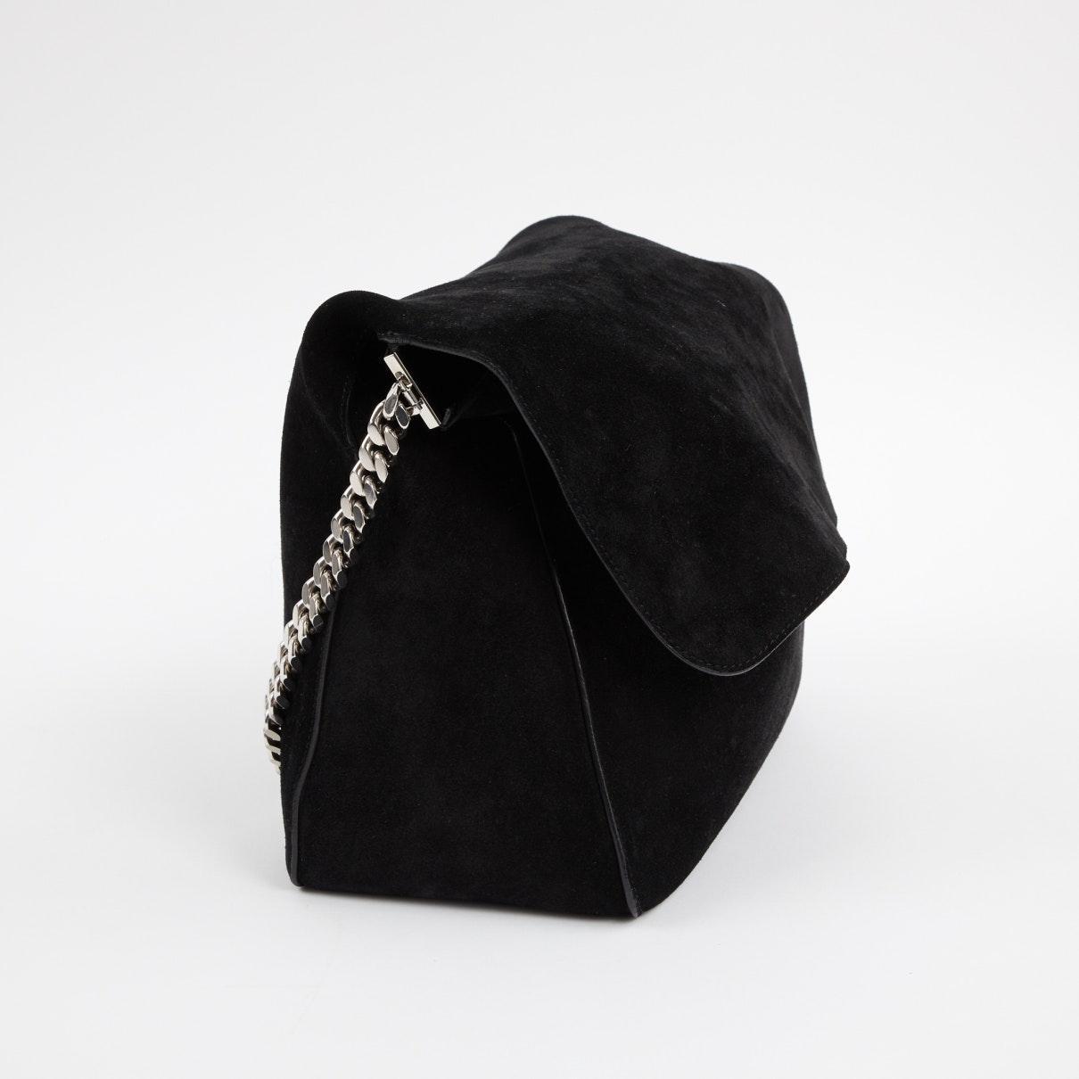 Celine Wildleder Gourmette Handtaschen in Schwarz ibEVN