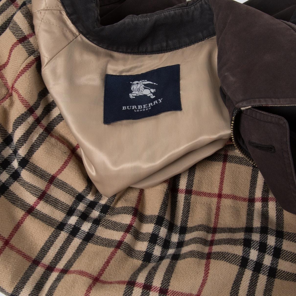 Mantel en Coton Marron Coton Burberry pour homme en coloris Marron 6ppzN