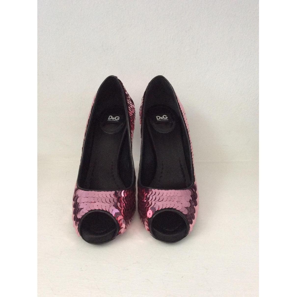Tacones en cuero rosa N Dolce & Gabbana de Cuero de color Rosa
