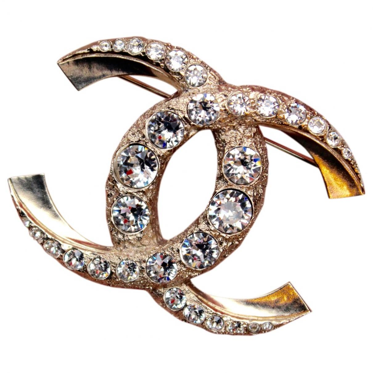 Lyst - Chanel Pre-owned Cc Gold Metal Pins & Brooches in