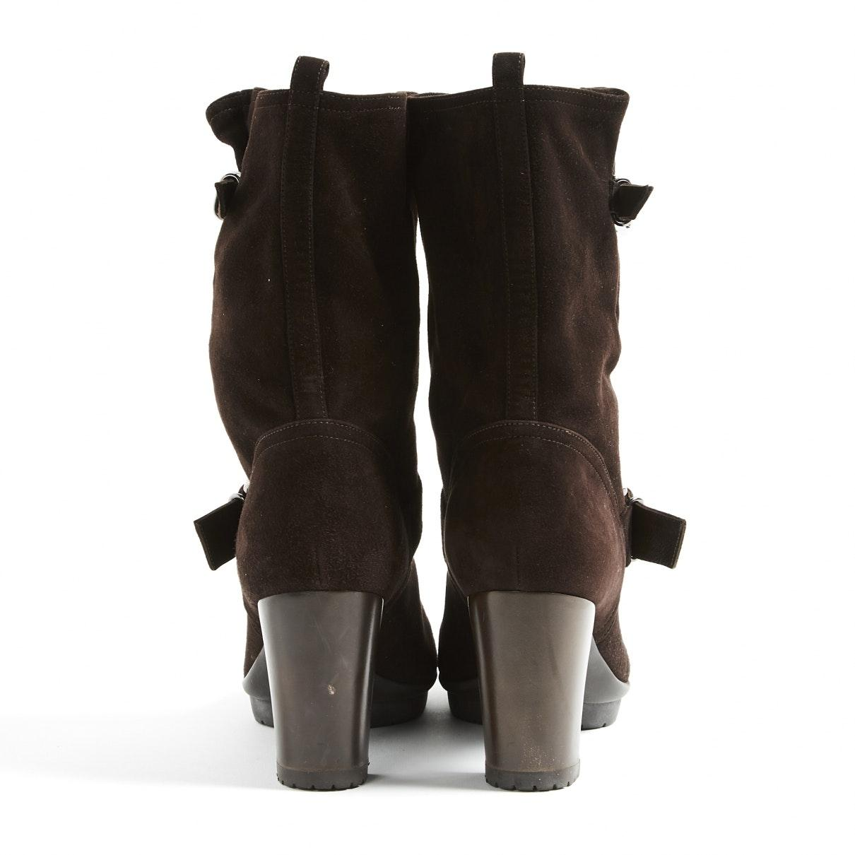 Gianvito Rossi Brown Suede Boots