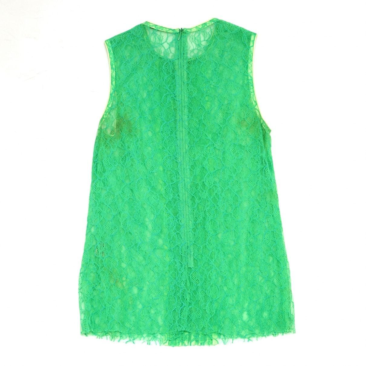 Camisa en encaje verde Christopher Kane de Encaje de color Verde
