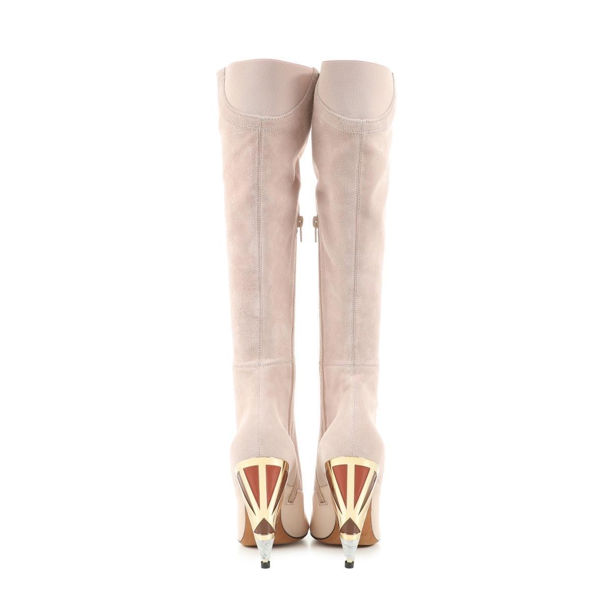 Botas en ante rosa Givenchy de Ante de color Rosa