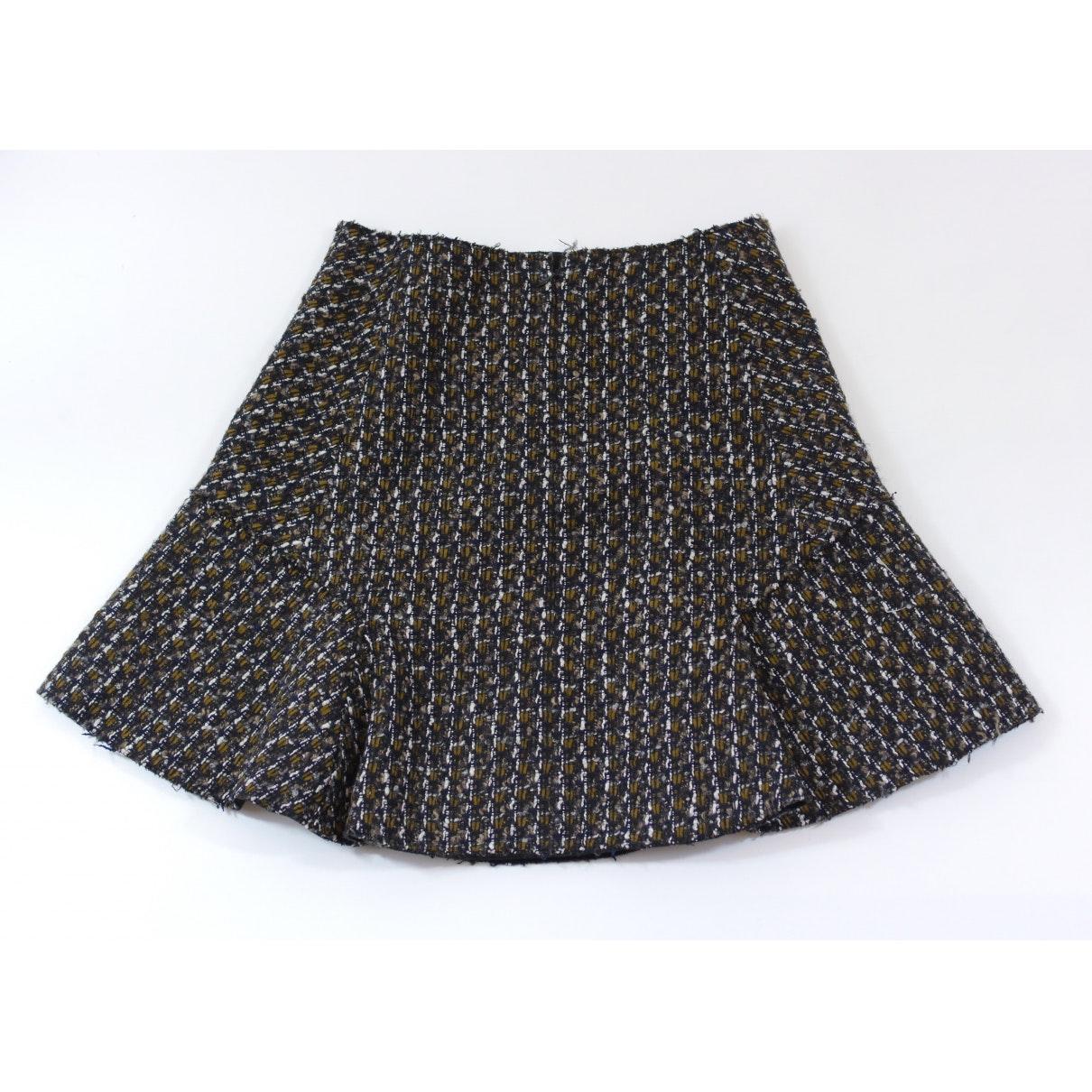 Falda en lana multicolor Carven