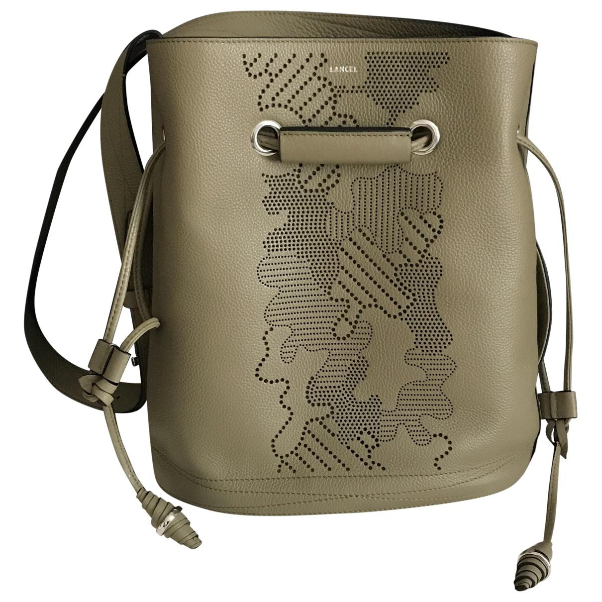 a260641680 Lyst - Lancel Leather Crossbody Bag in Green