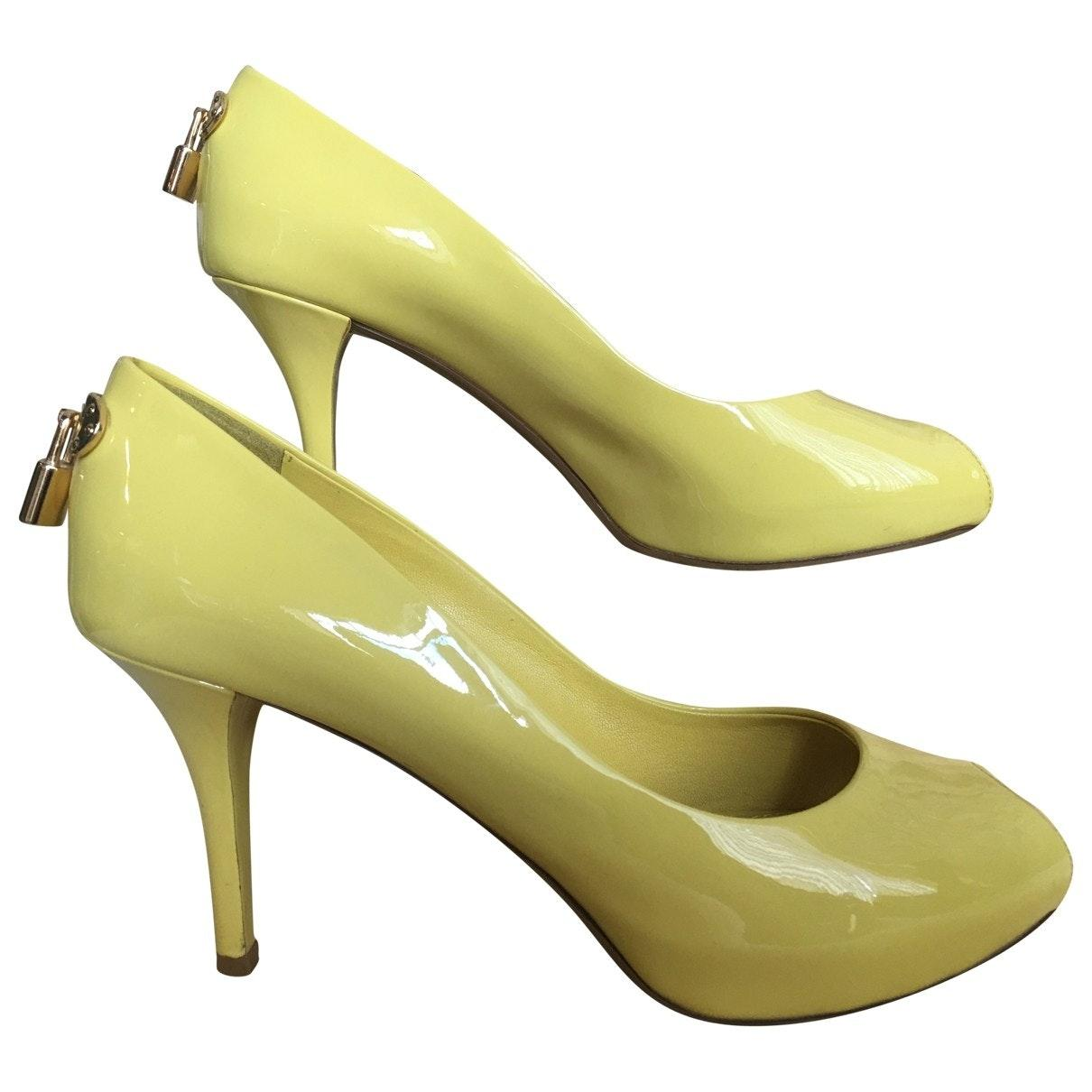 affordable price cheap for sale quite nice Louis Vuitton \n Yellow Patent Leather Heels - Lyst