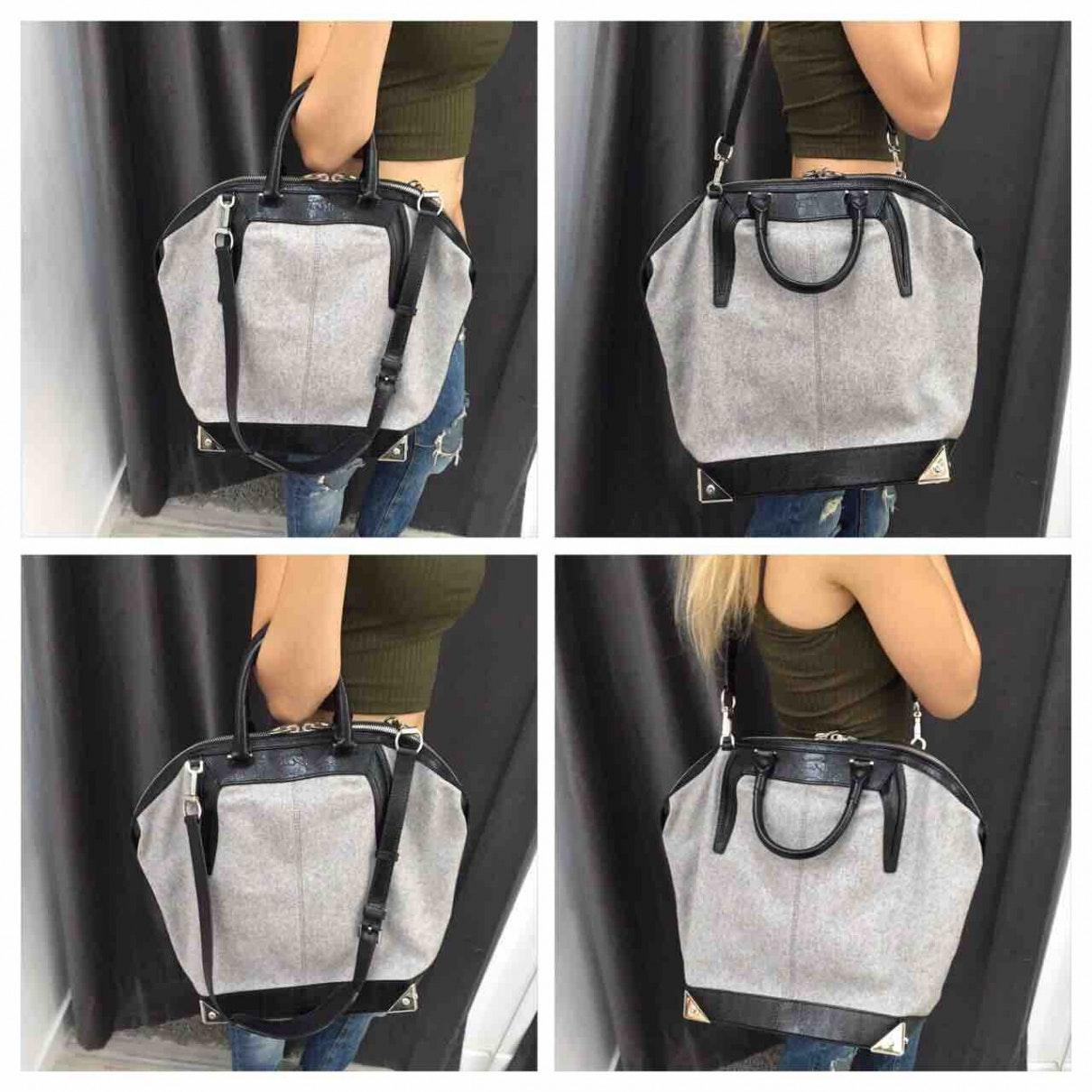 Alexander Wang Leder Leder Handtaschen in Grau kOSS5