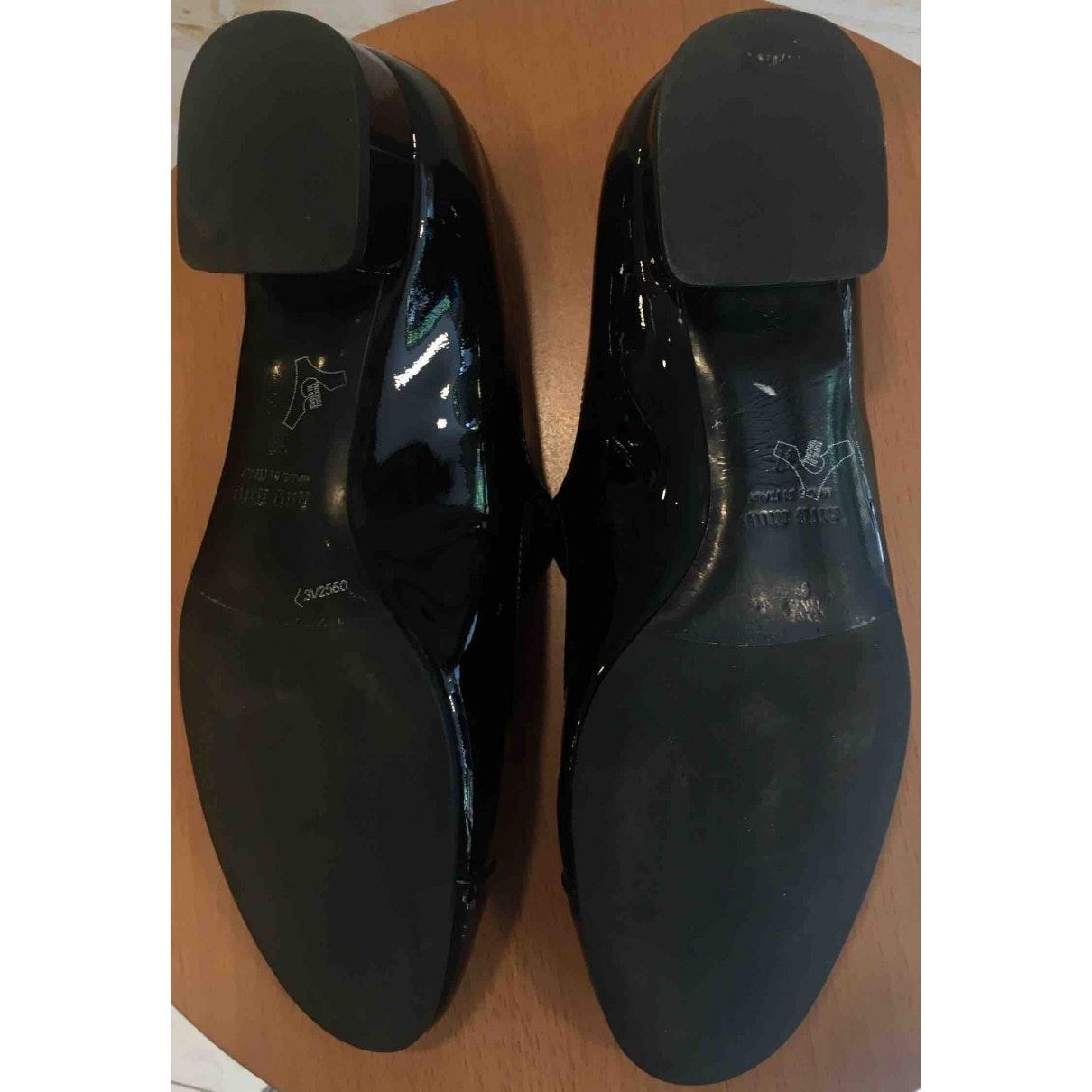 Bailarinas de Charol Miu Miu de Cuero de color Negro