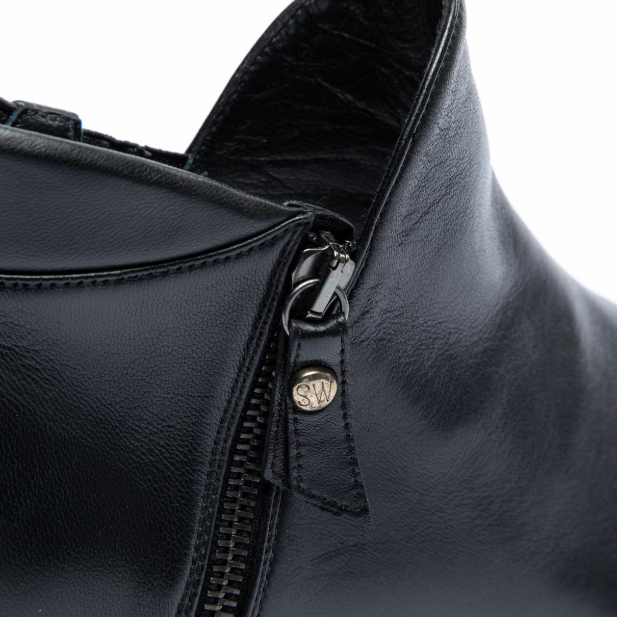 Botines en cuero negro Stuart Weitzman de color Negro