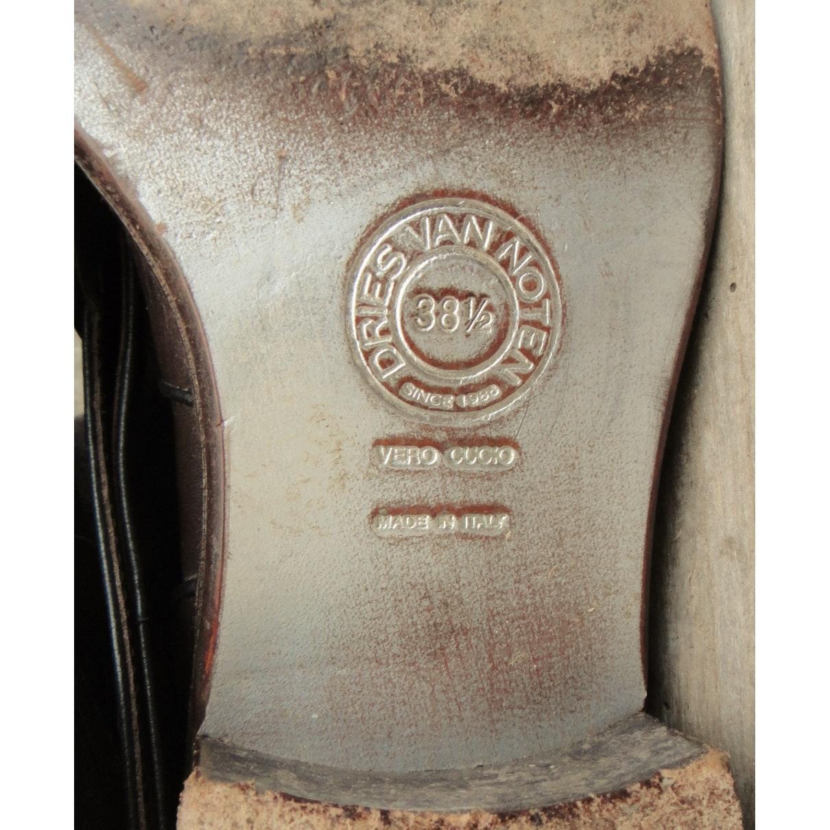 Botas altas de Cuero Dries Van Noten de Cuero de color Marrón