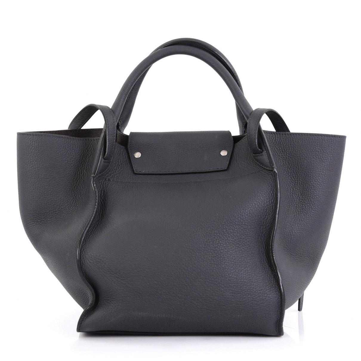 Sac à main Big Bag en Cuir Gris Celine en coloris Noir zWMW