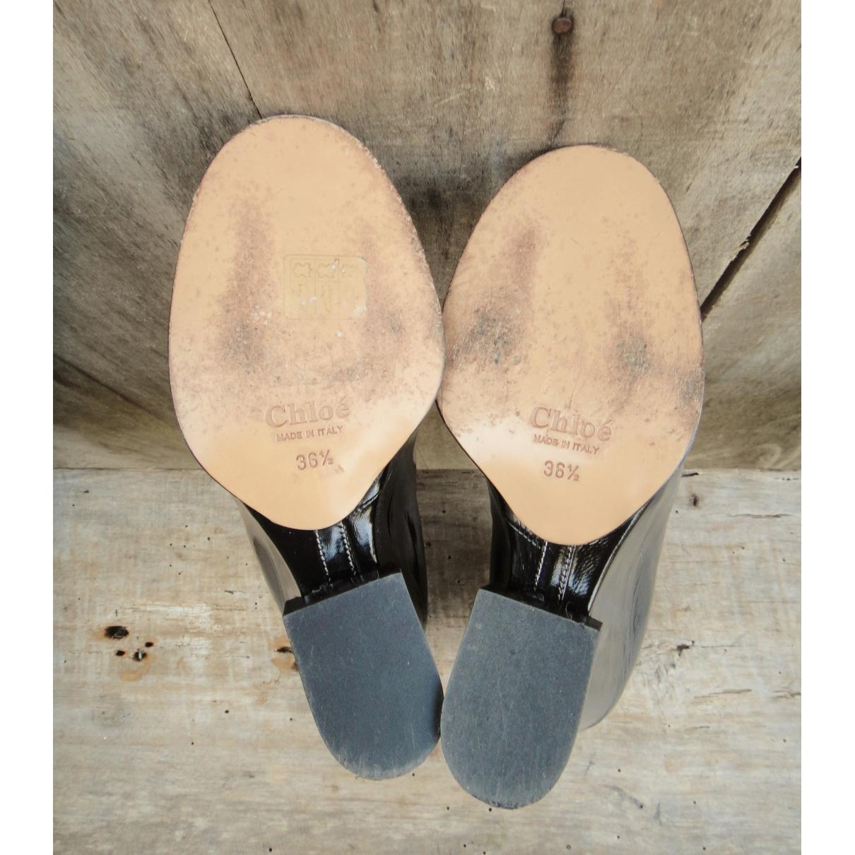 Botines de Charol Chloé de color Negro