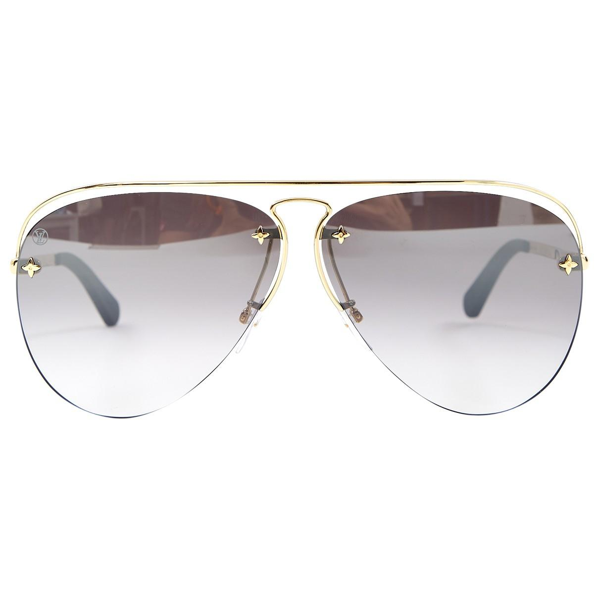 6075660cbad6 Lyst - Louis Vuitton Pre-owned Aviator Sunglasses in Black