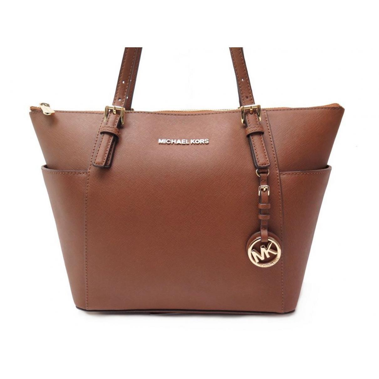 Michael Kors Brown Pre Owned Leather Handbag Lyst View Fullscreen