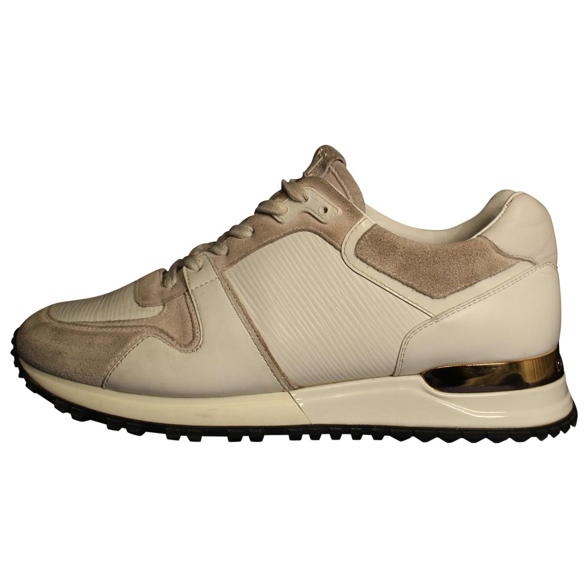 86a8fa49a58 Louis Vuitton - Natural Leather Trainers - Lyst