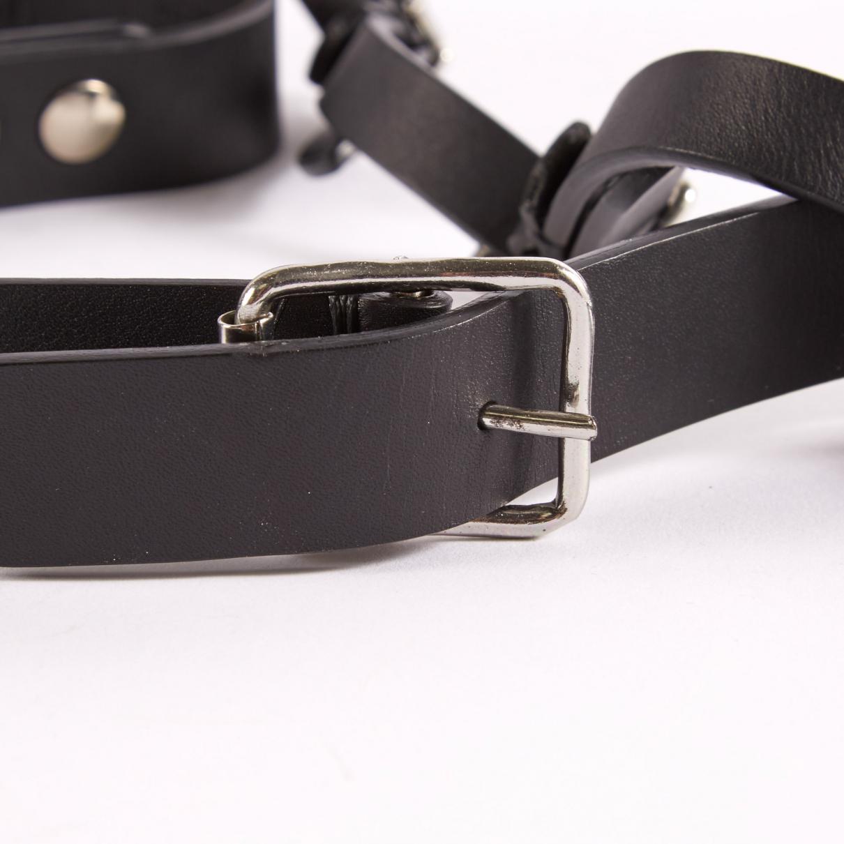 Giuseppe Zanotti Leather Long Necklace in Black