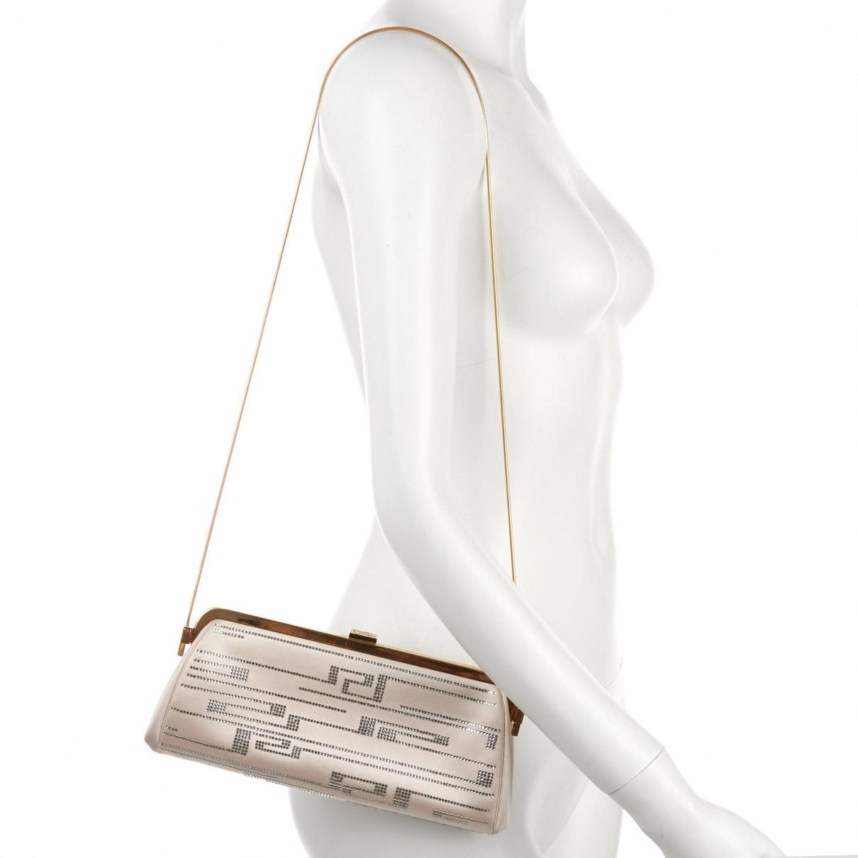 Sac à main en Toile Beige Versace c3mk