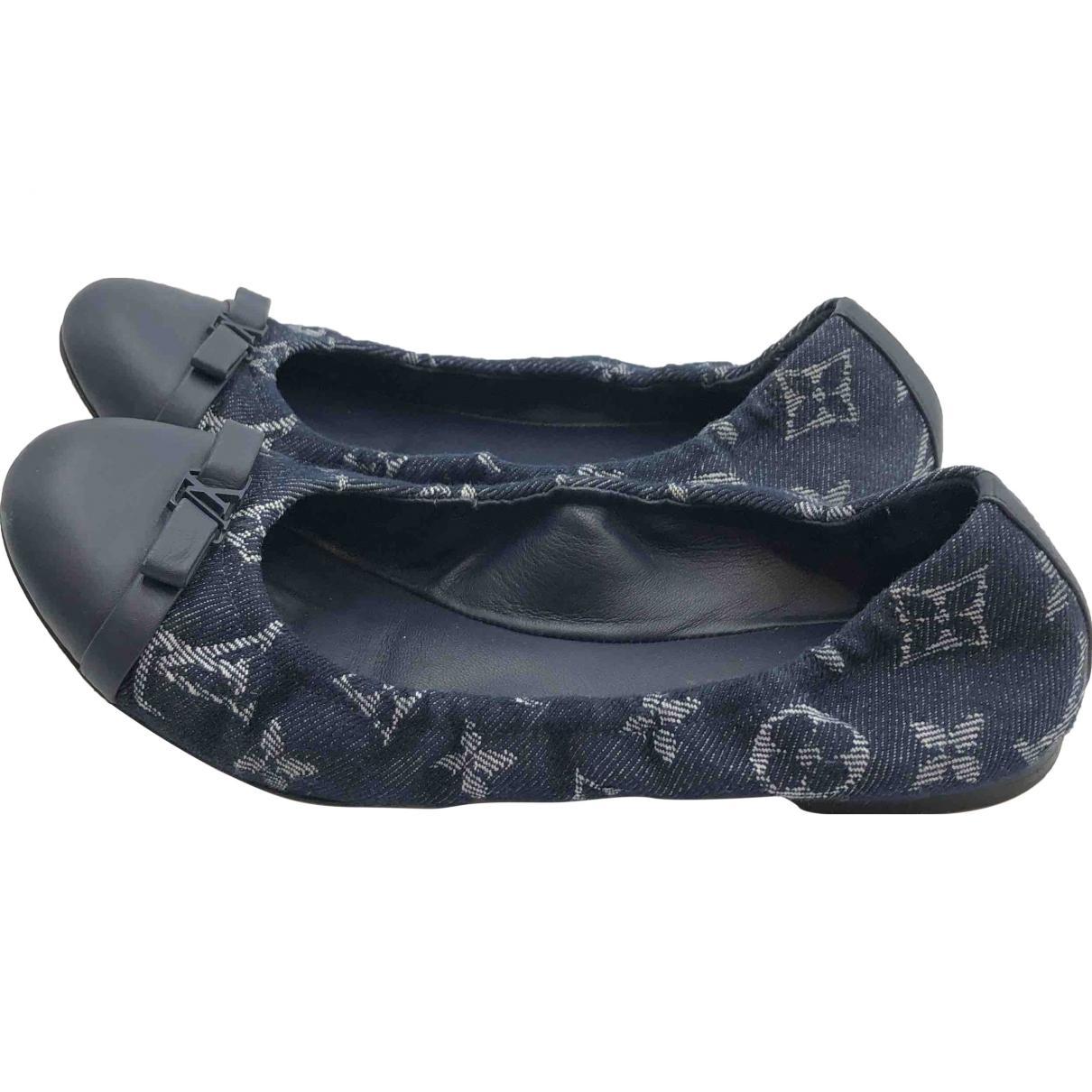 b621146e1863 Lyst - Louis Vuitton Other Cloth Ballet Flats in Blue