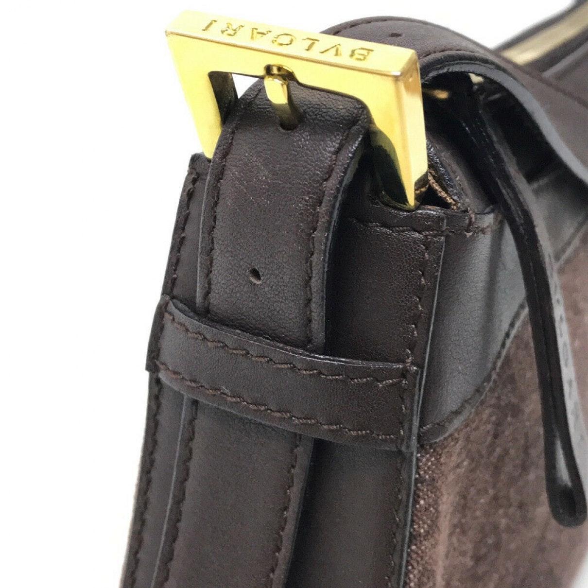 BVLGARI Wolle Handtaschen in Braun Iq4M9