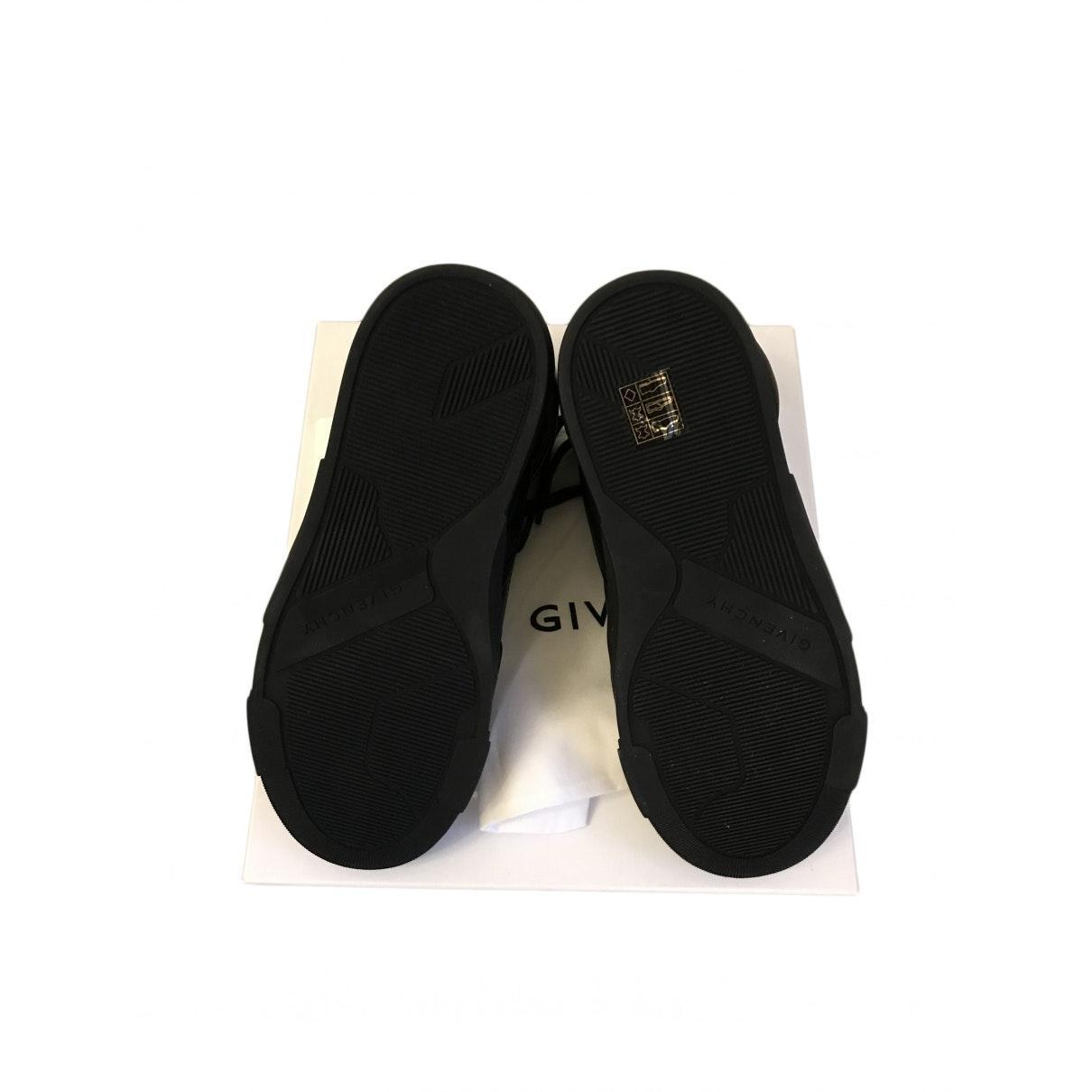 Deportivas en cuero negro Givenchy de Cuero de color Negro