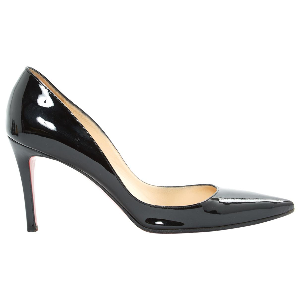 buy online 764af 189f4 Christian Louboutin Black Pre-owned Iriza Patent Leather Heels