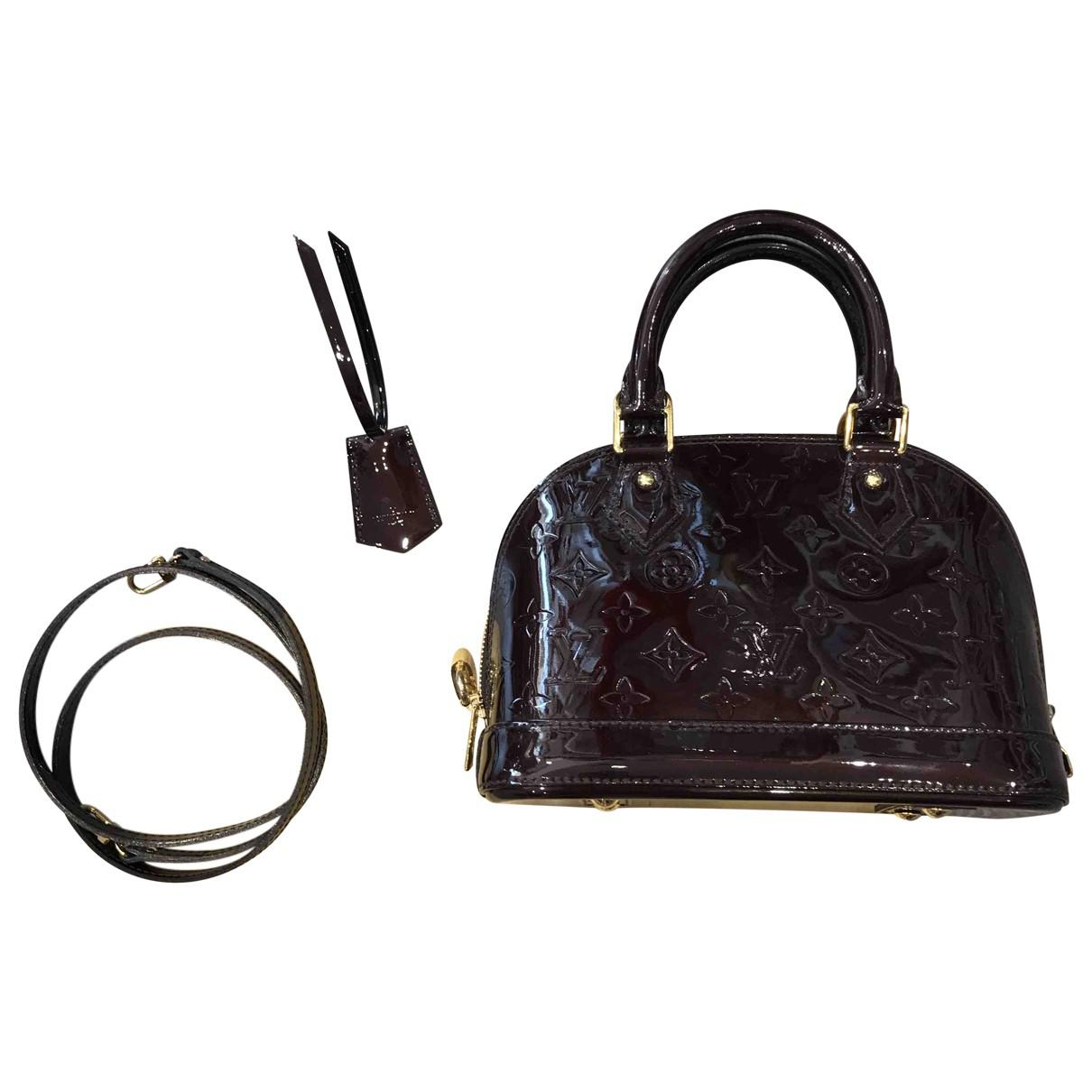 34a9254d409b Lyst - Louis Vuitton Alma Bb Patent Leather Crossbody Bag in Black