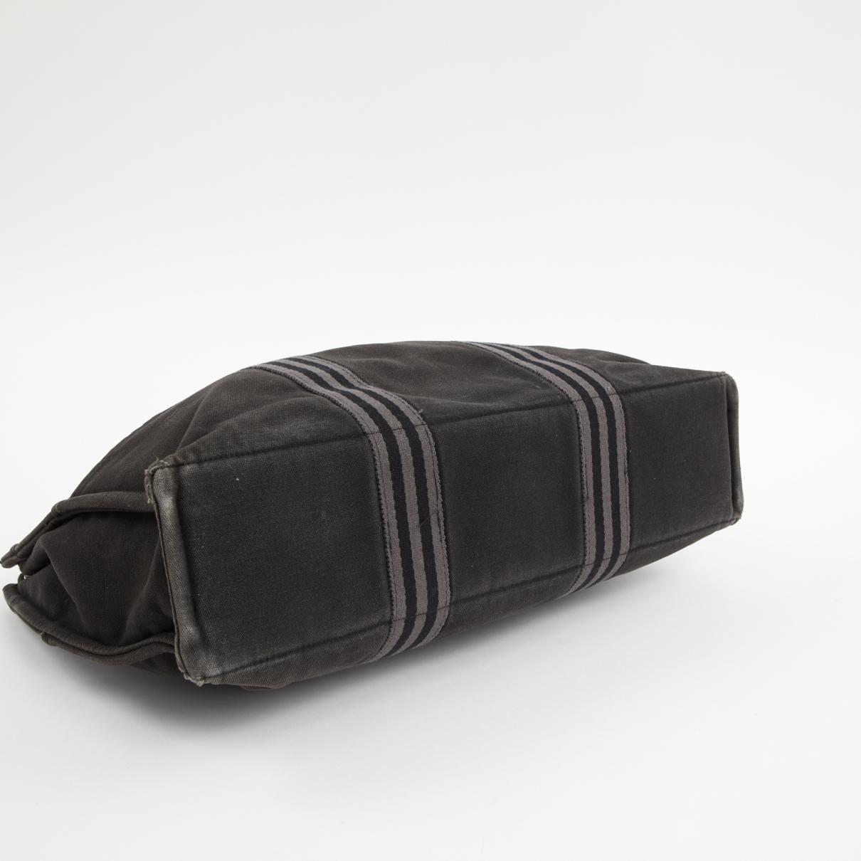 Hermès Herline Leinen handtaschen in Grau 2pBy7
