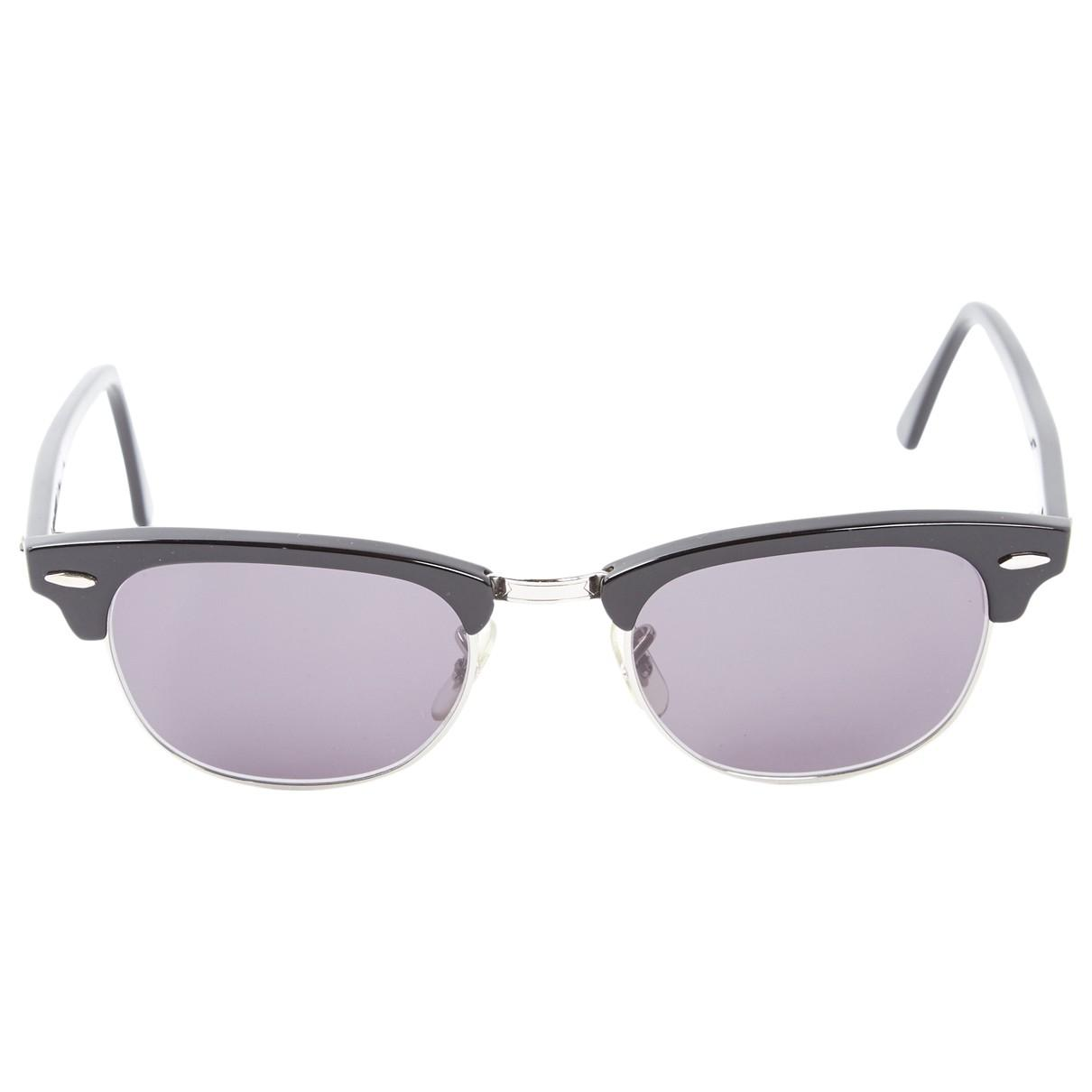 0acf1765abe3 Lyst - Ray-Ban Pre-owned Black Plastic Sunglasses in Black