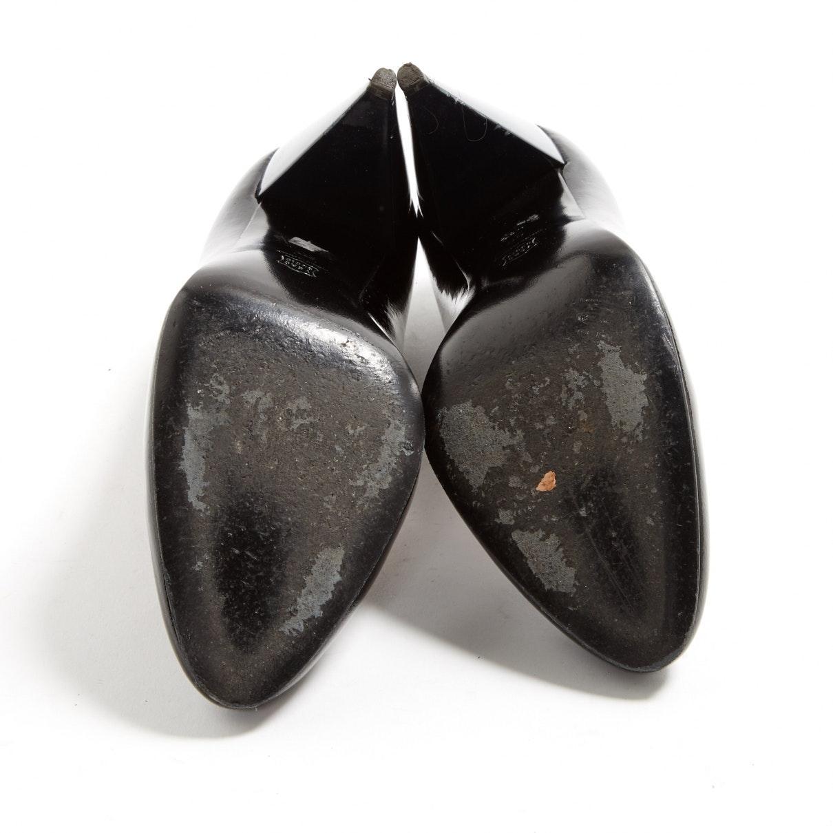 Tacones en charol negro N Lanvin de Cuero de color Negro