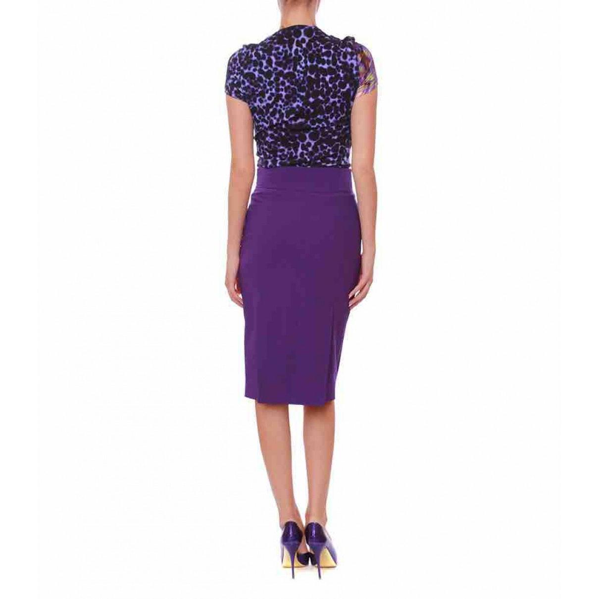 Jupe N en Coton Violet Coton Versace en coloris Violet