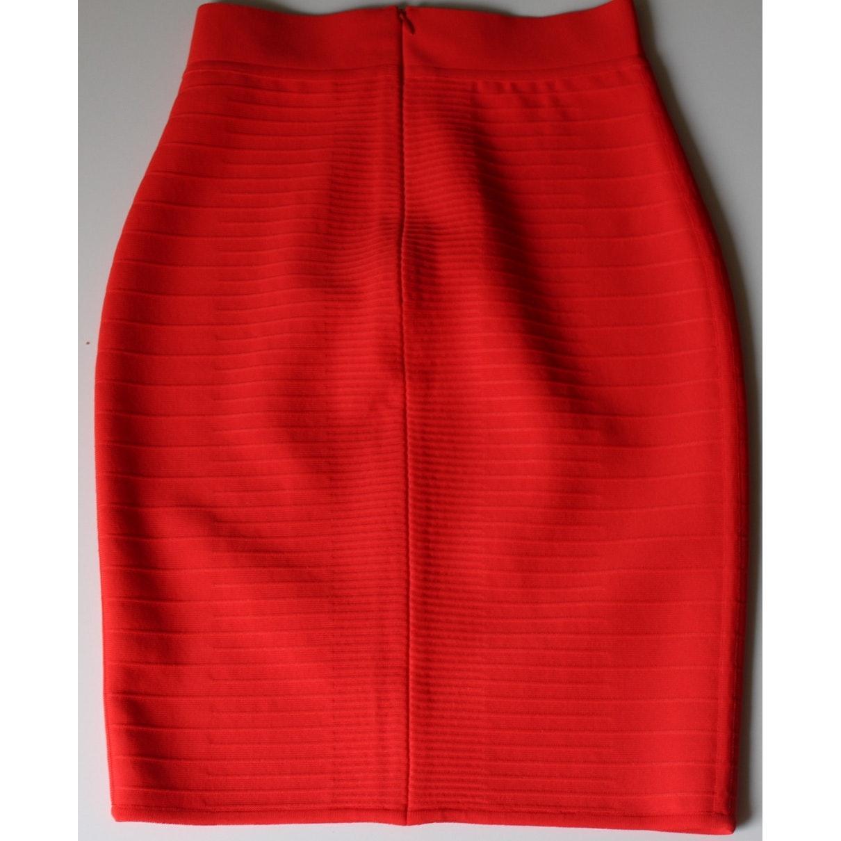 Falda en viscosa rojo Hervé Léger de Tejido sintético de color Rojo