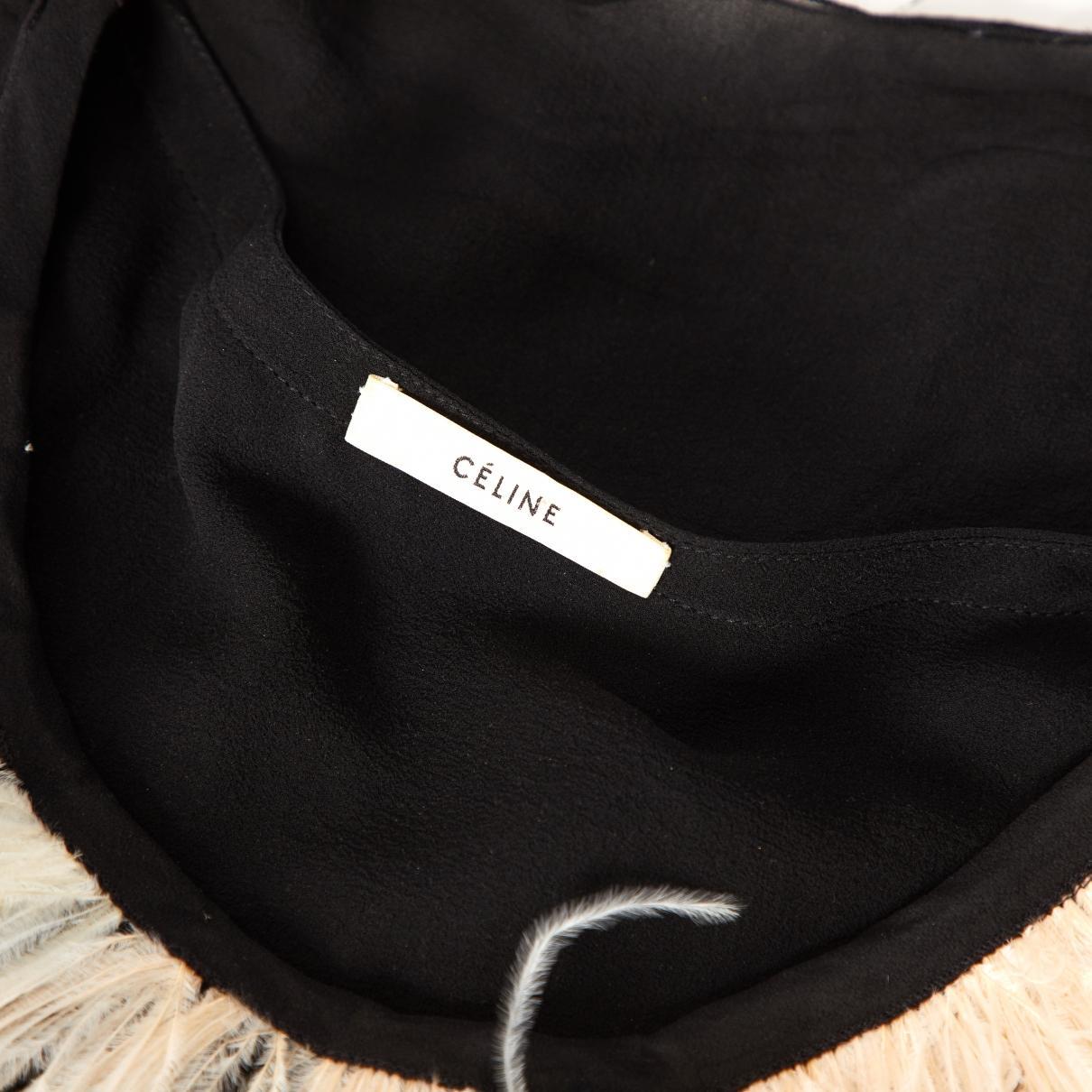 Blusa de Seda Celine de color Negro