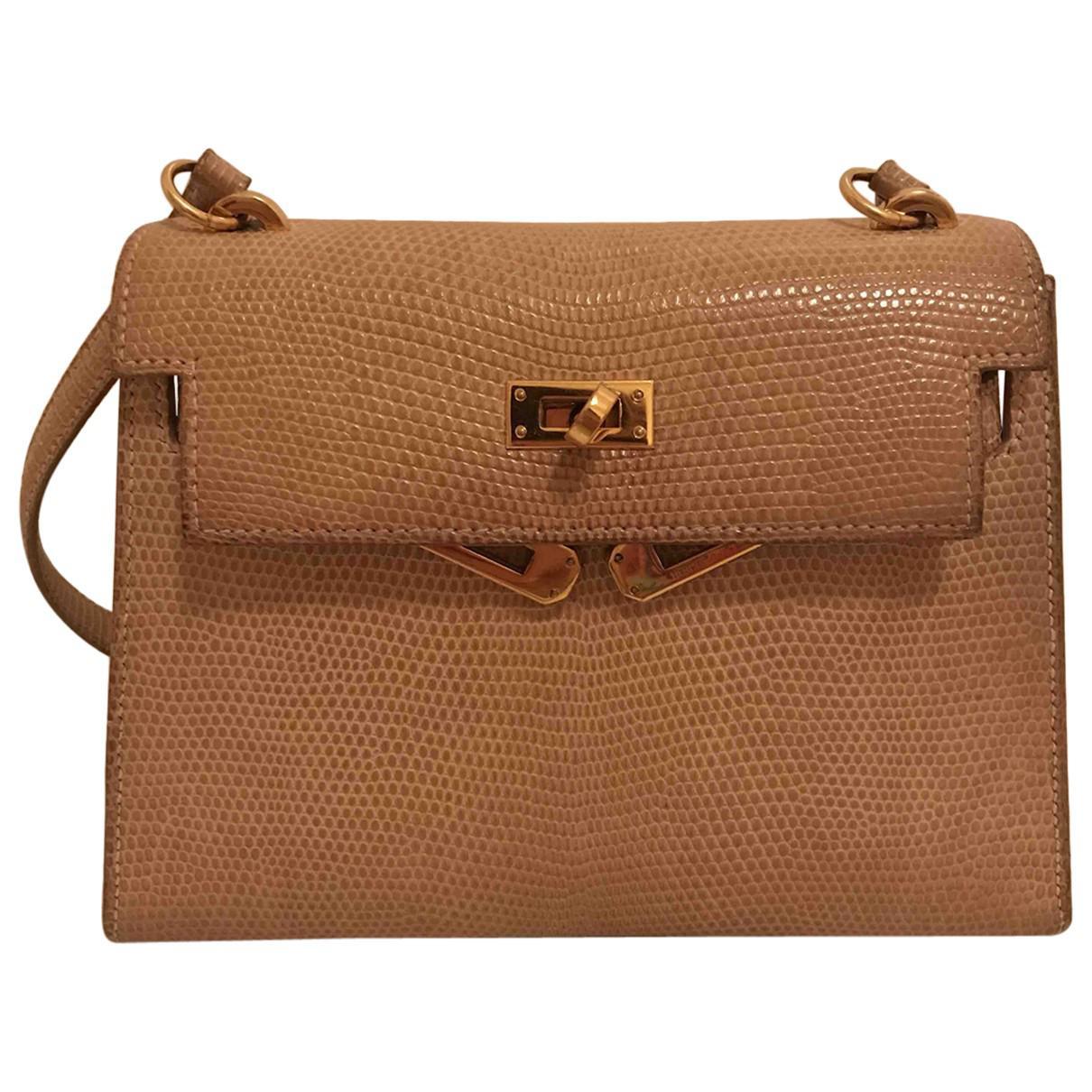 0b781aa772 ... where can i buy lyst hermès pre owned kelly mini lizard bag in natural  66c00 9f850