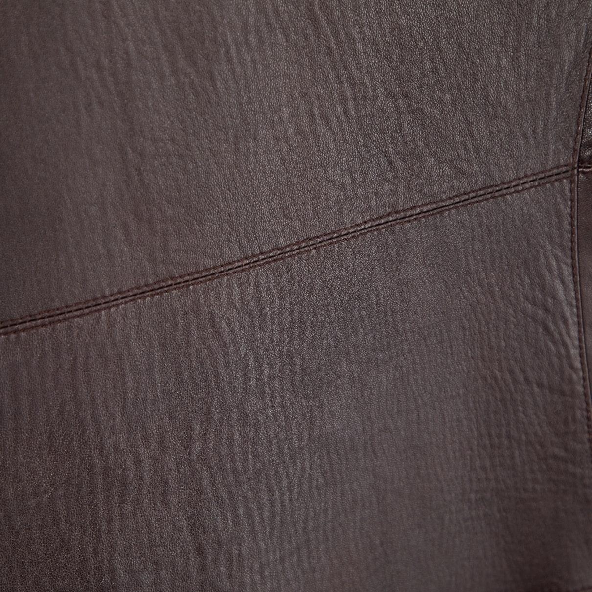 Abrigo de Cuero Jil Sander de Cuero de color Marrón