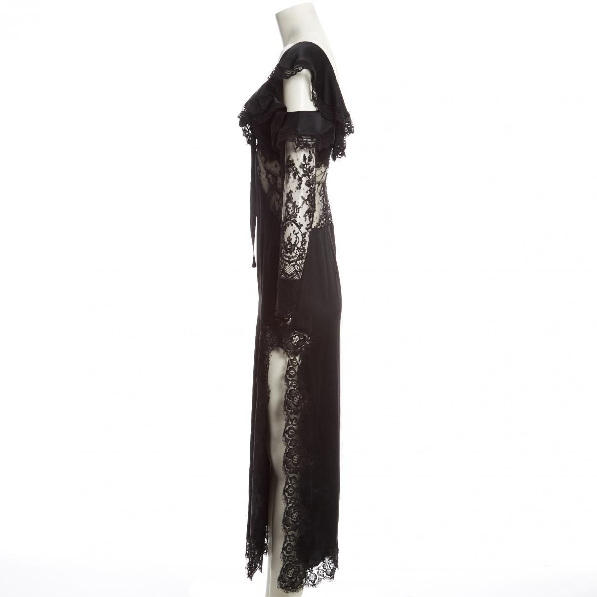 Maxi vestido Alessandra Rich de Tejido sintético de color Negro