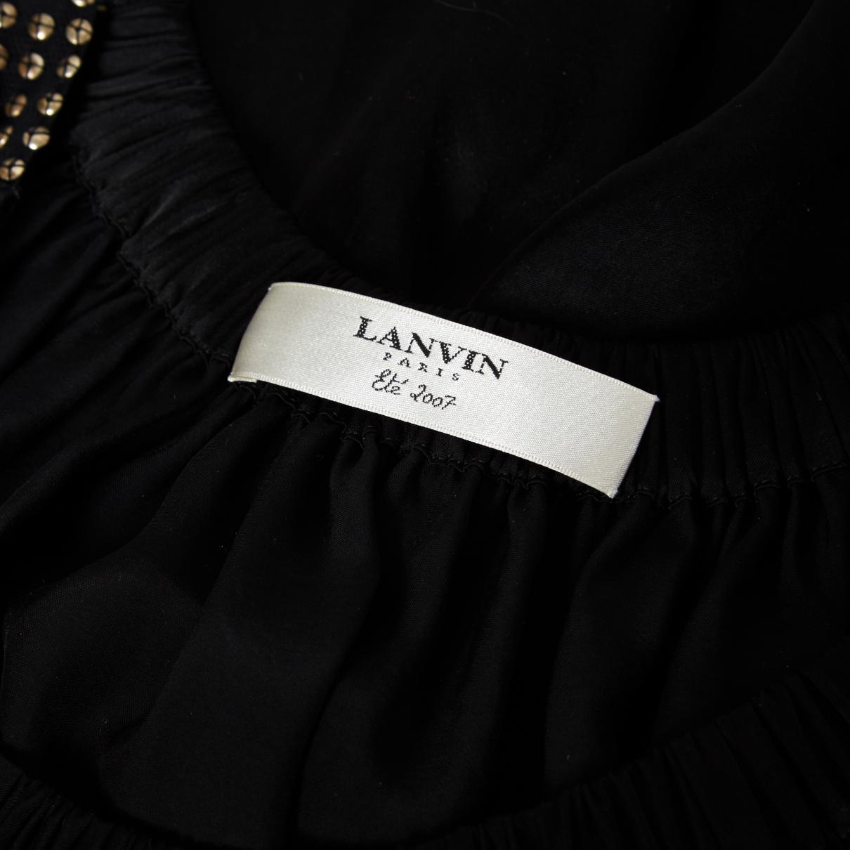 Débardeur Satin Lanvin en coloris Noir
