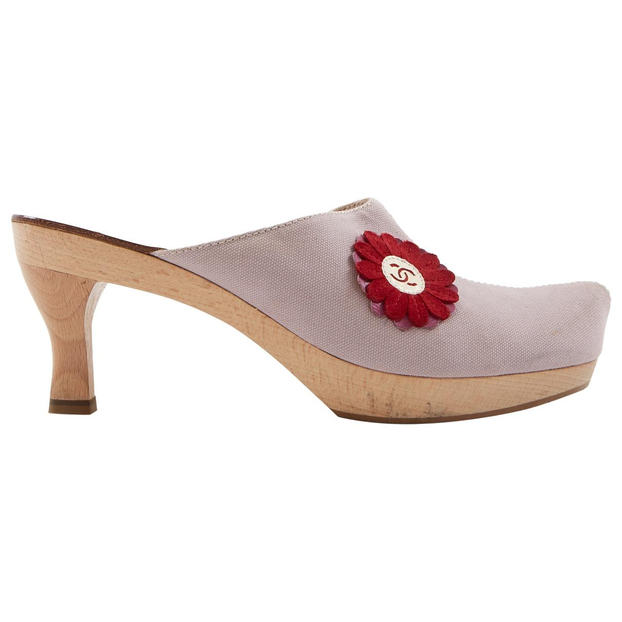 7bc8e5d617b Chanel. Women s Pink Cloth Mules   Clogs. £326 £277 From Vestiaire  Collective