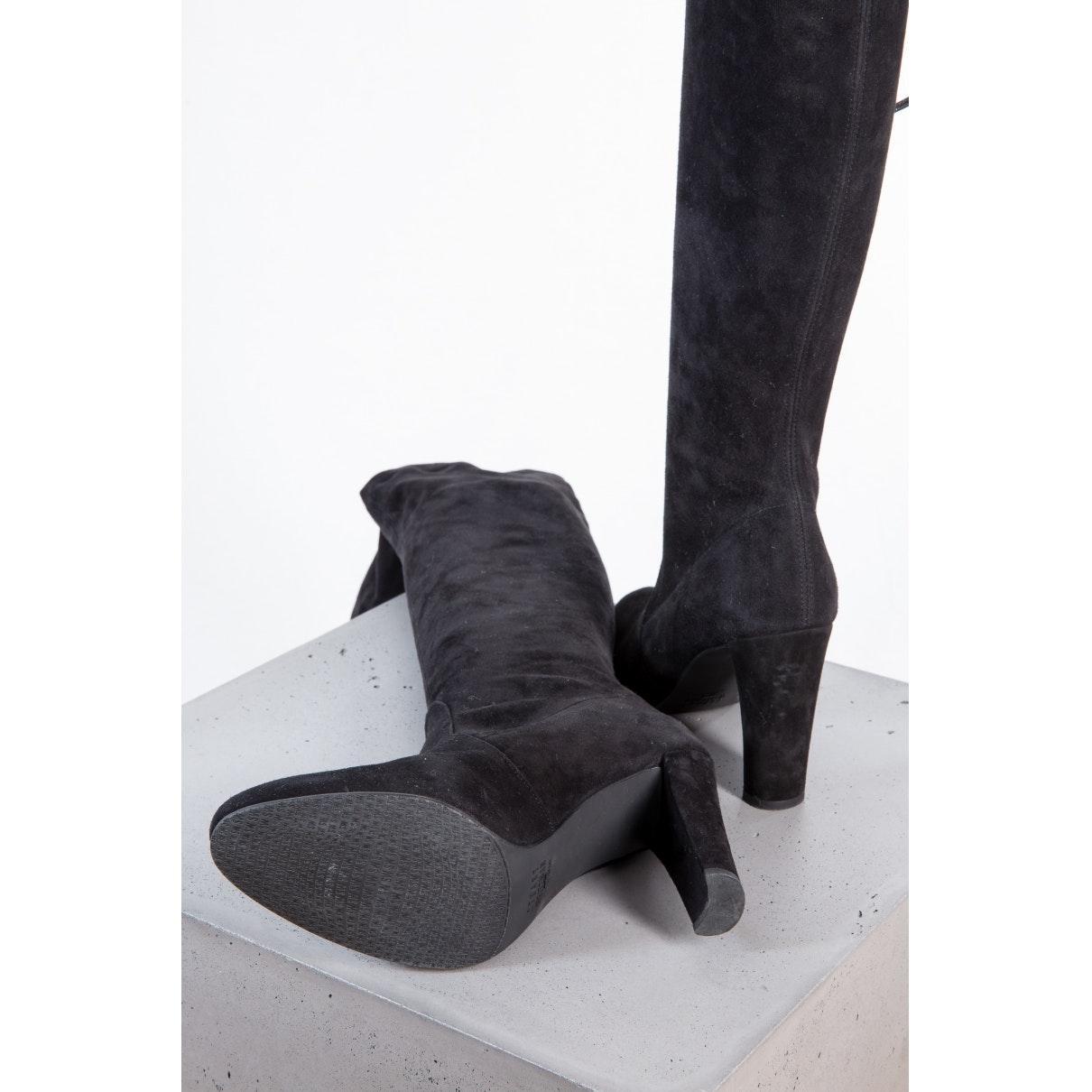 Botas en ante negro Stuart Weitzman de color Negro