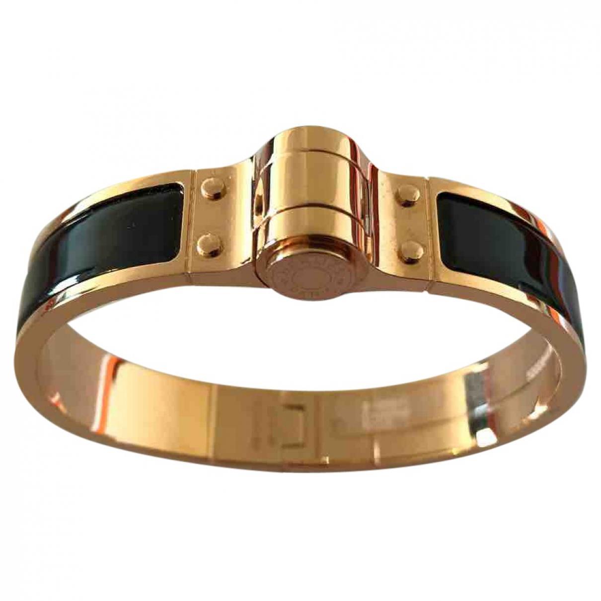 Hermès Bracelet Charnière Black Metal Bracelets