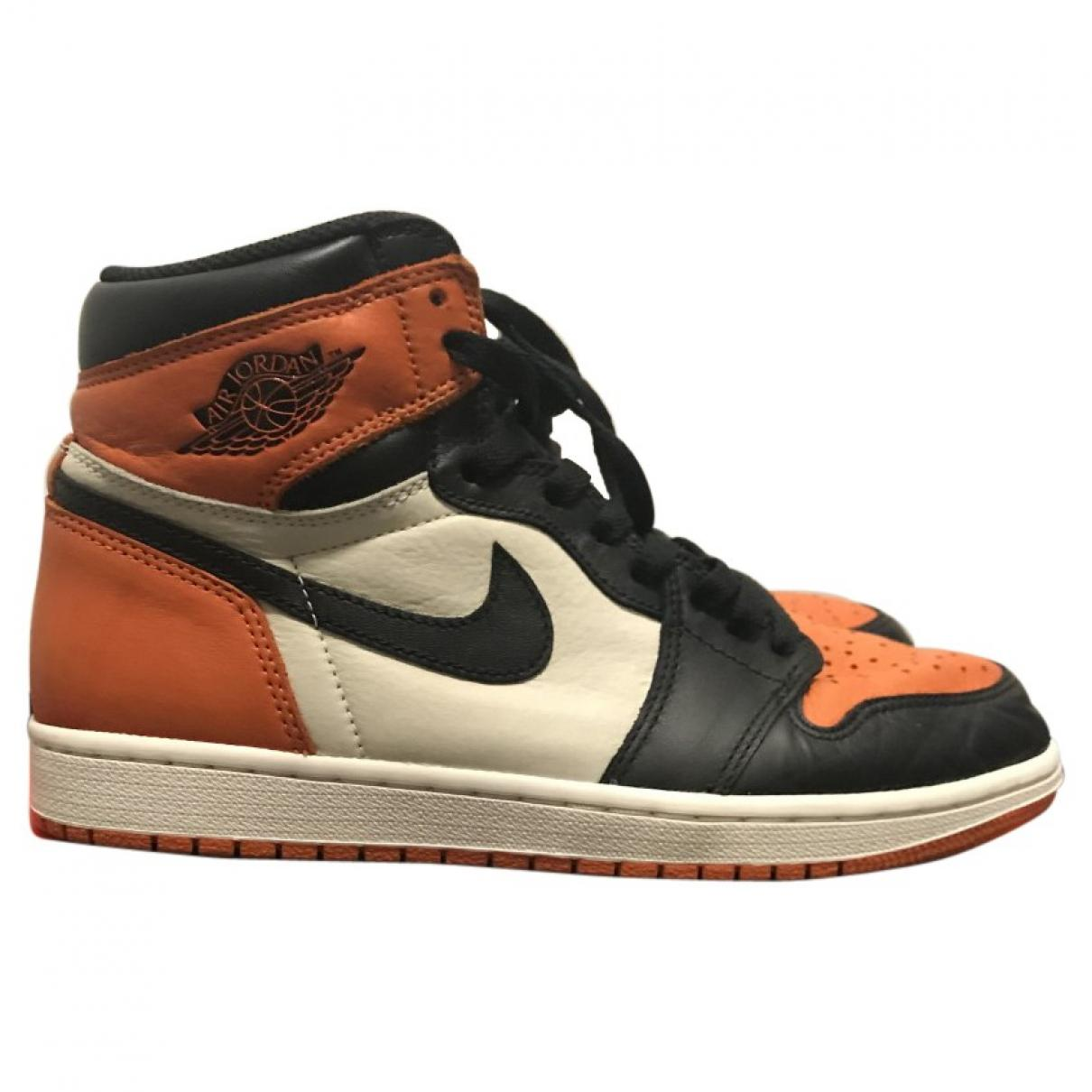 70f46b06a78 Nike. Men s Pre-owned Jordan Orange Leather Trainers.  544 From Vestiaire  Collective