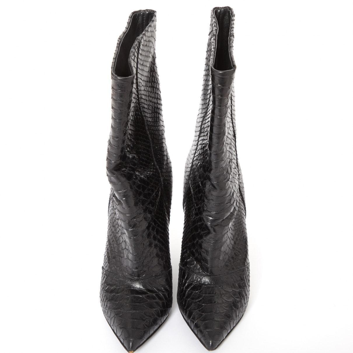 Bottes N en Cuir Noir Cuir Giuseppe Zanotti en coloris Noir