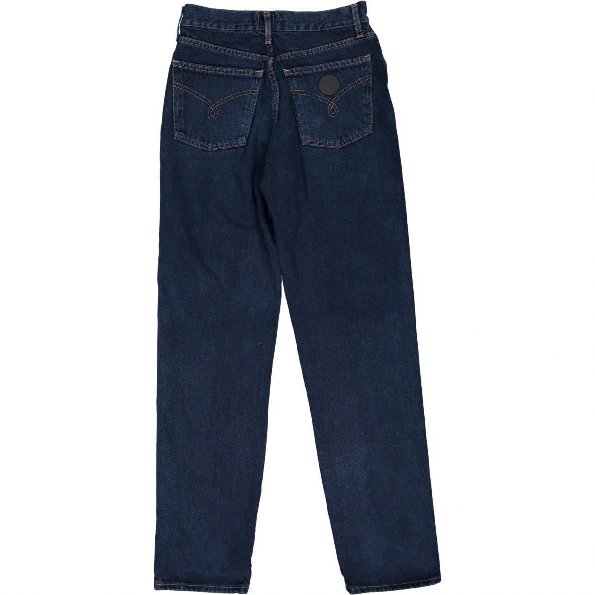 Moschino Denim Straight Jeans in Blue for Men