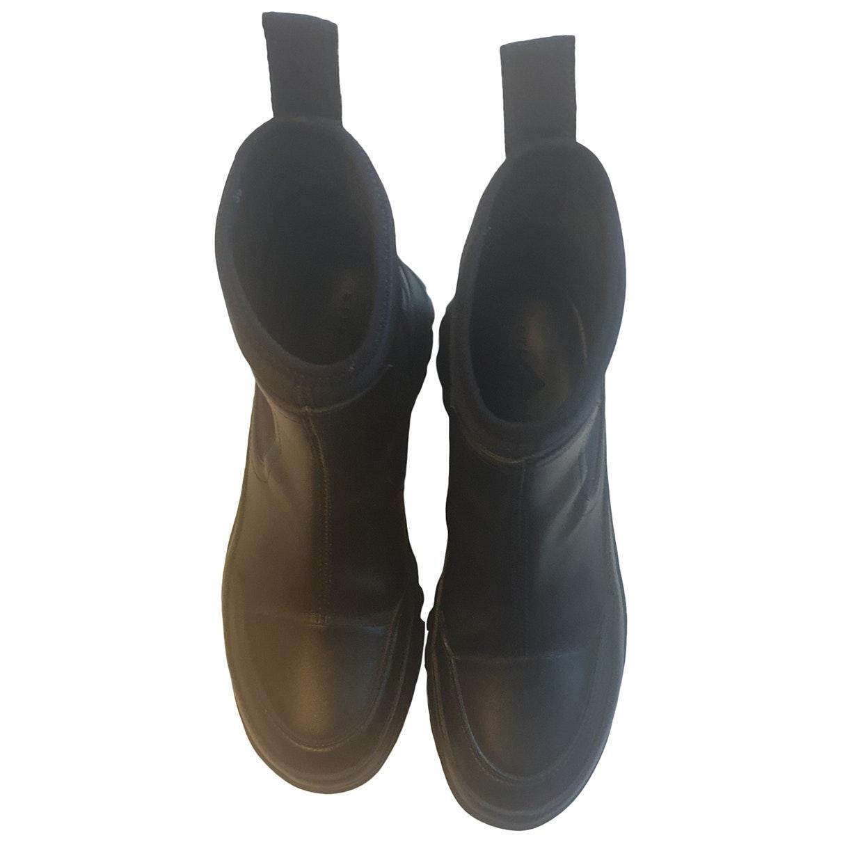 Boots en Polyester Noir Stella McCartney en coloris Noir