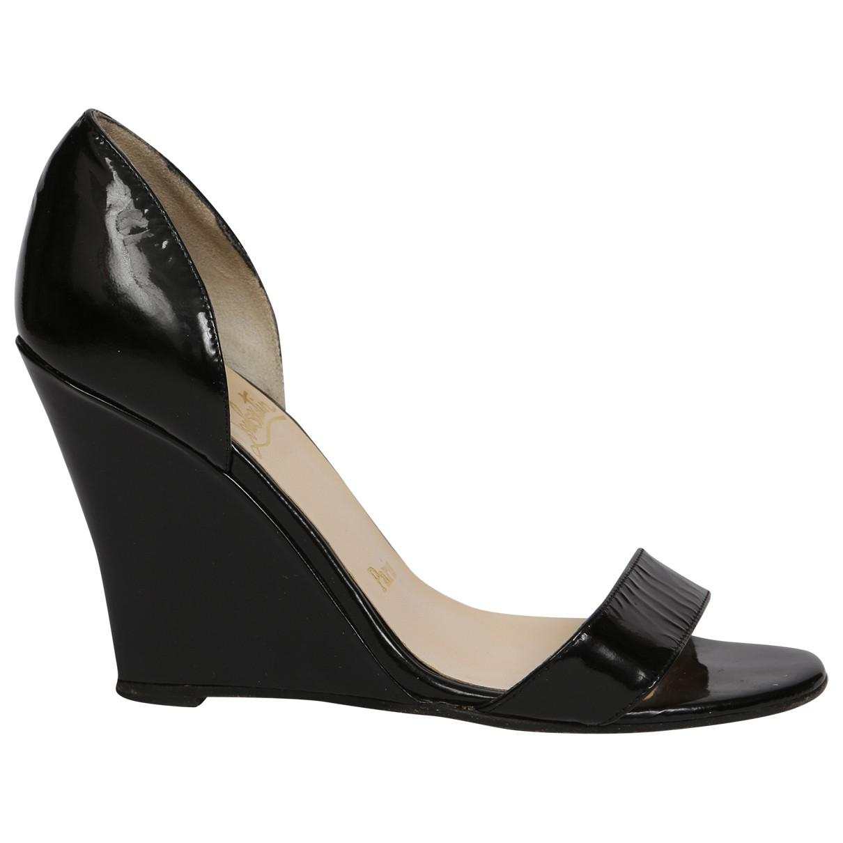 8db2b5a6814 christian-louboutin-Black-Pre-owned-Patent-Leather-Heels.jpeg