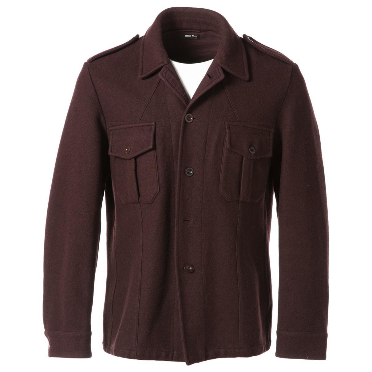 c3ff3fff578 Lyst - Miu Miu Wool Vest in Brown for Men
