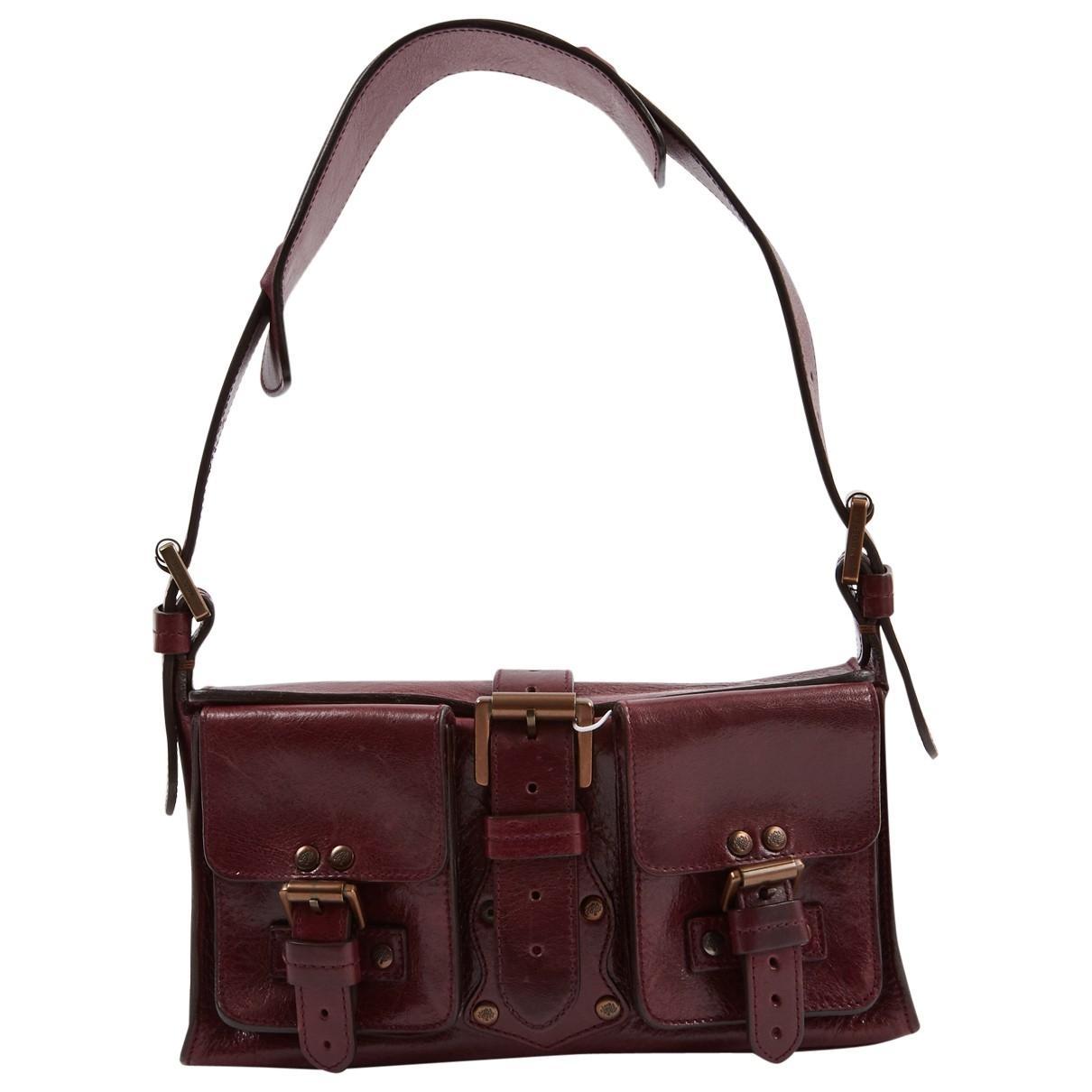 00b1eda9f7 Lyst - Mulberry Roxanne Leather Handbag in Purple