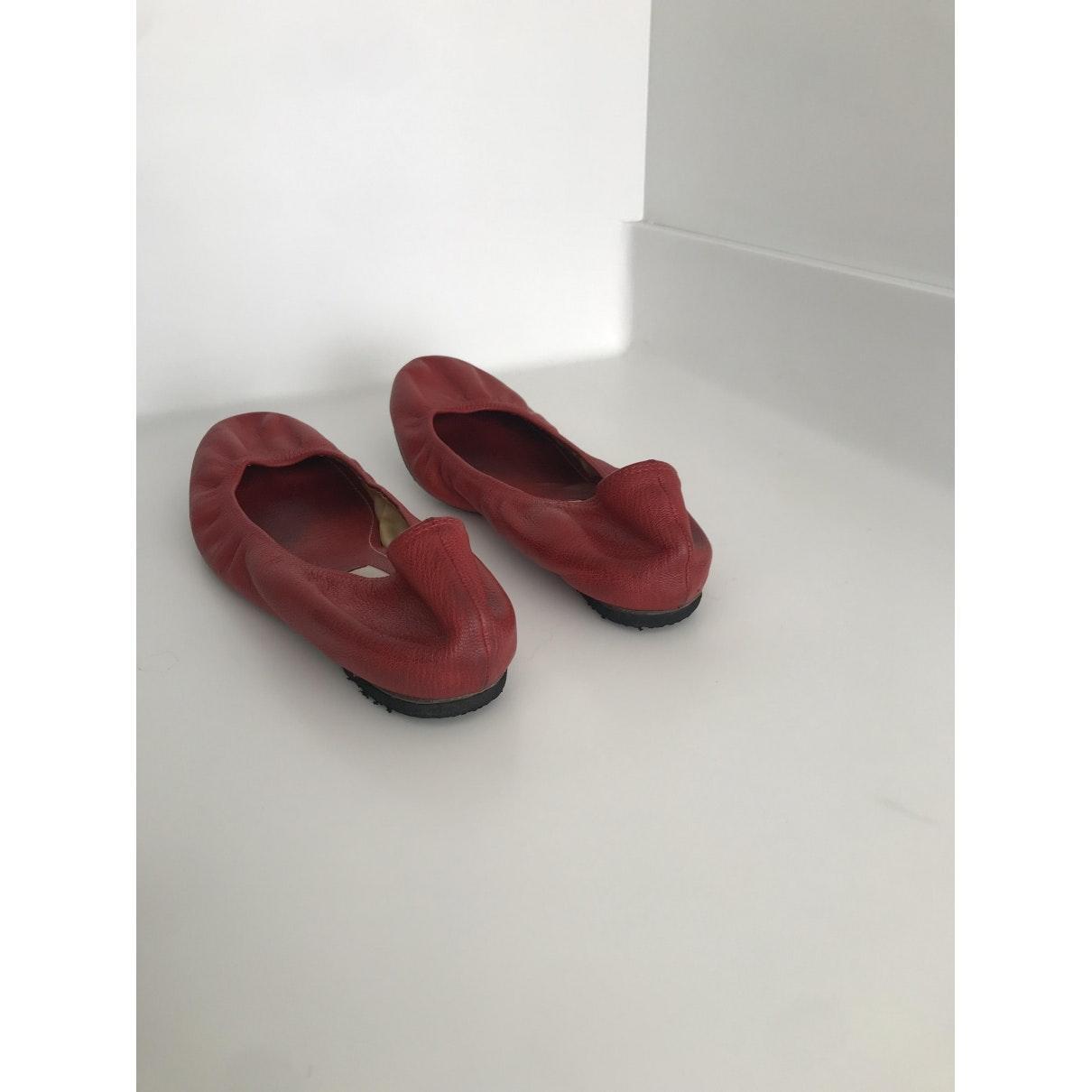 Bailarinas en cuero rojo N Lanvin de Cuero de color Rojo